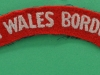South Wales Borderers cloth shoulder title