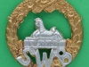 KK 625. South Wales Borderers. Bimetal badge. Slide 43 mm.