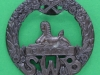 KK 625. South Wales Borderers. Bronce badge. Slide 42 mm.