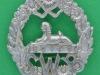 KK 625. South Wales Borderers. White metal beret badge. Slide 36 mm.