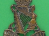CW264. Royal Ulster Rifles officers collar bronce badge. 35x44 mm.