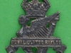 PT143. Royal Ulster Rifles,1st Glider Battalion, officers forage cap badge in silver, 20x25 mm.