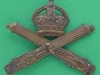 KK 1154, Machine Gun Corps. Officers bronze cap badge. 51x43 mm. folding blades replaced by a slider.